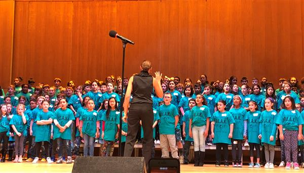 Fourth-Grade Musicians Represent Herricks at PEAK Festival