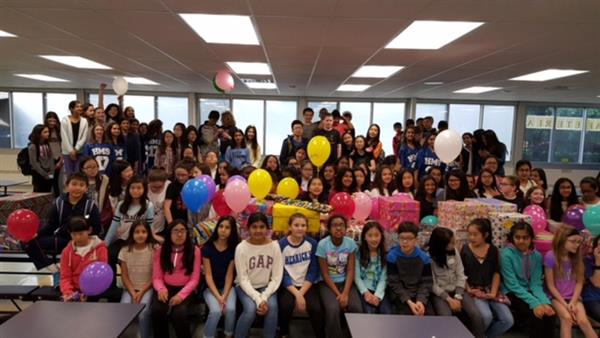 Herricks Middle School Makes Birthdays Special for Children in Need