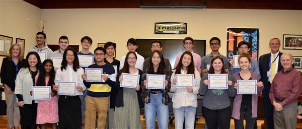 Board Honors 25 Commended Students