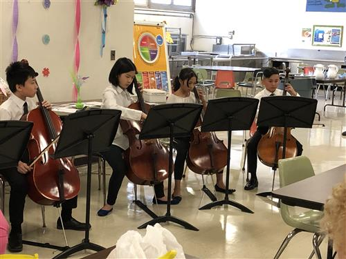 Herricks Cellists Perform for Retirees