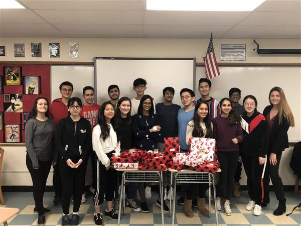 Herricks HICAP Club Stepped It Up For Another Year to sponsor a Holiday Adopt-a-Child Program.