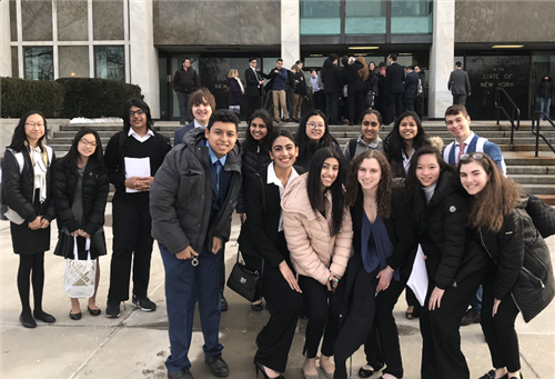 The Herricks Mock Trial Team Wins 1st Competition