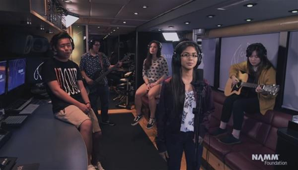 Herricks High School Students Create an Original Song and Music Video on The John Lennon Educational Tour Bus