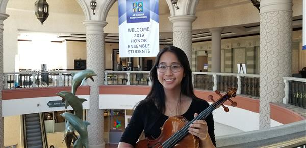 Karina Ng Represents Herricks Music Nationally