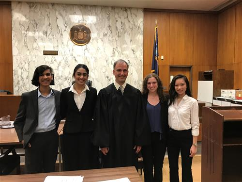 Herricks Moot Court Team Emerges Victorious