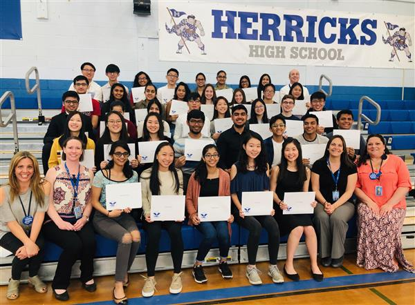 Herricks HS Presents Presidential Volunteer Service Awards