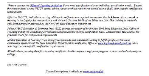 Herricks Teacher Center / ELT NYSUT Certification Programs