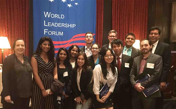 Herricks High School Students Experience World Leadership Forum