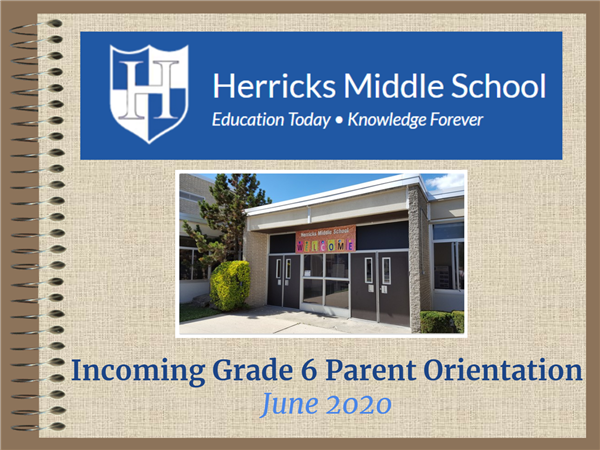 Rising 6th Grade Parent and Student Orientation