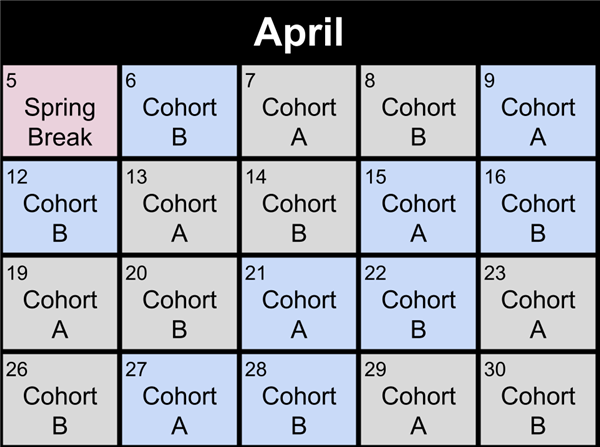 April Rotation Schedule