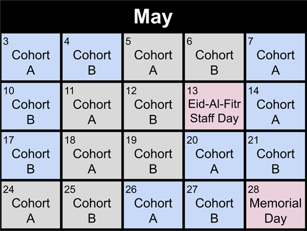 May Rotation Schedule