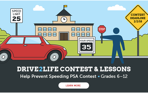PSA Contest to Help Prevent Speeding | Grades 6-12 (Deadline 2/28)