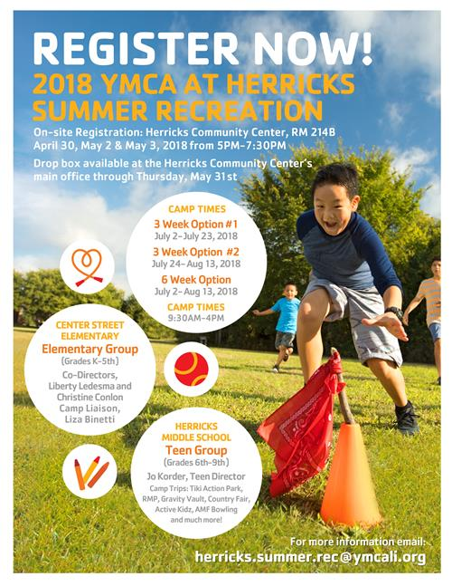 YMCA Registration Flyer