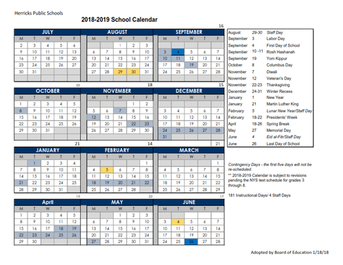 interactive district calendar    2018  2019 calendar