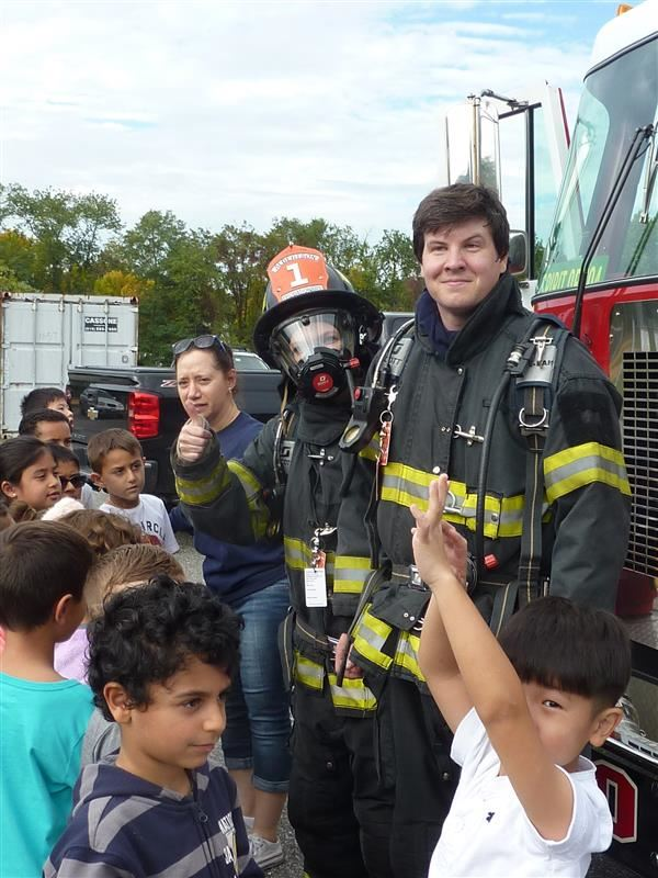 Fire Trucks Visit Searingtown