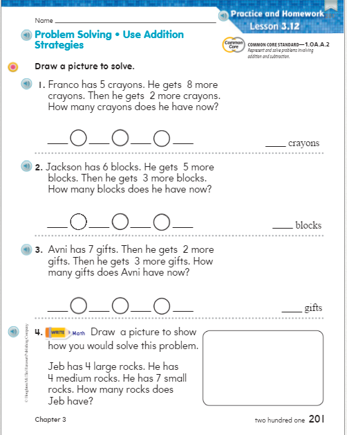 Language Immersion - Grade 1 / Go Math Chapter 3